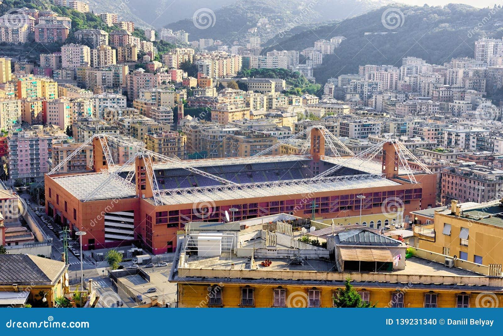 View Of The Football Stadium Luigi Ferraris Of Genoa Italy Editorial Image Image Of Genova Genoa 139231340