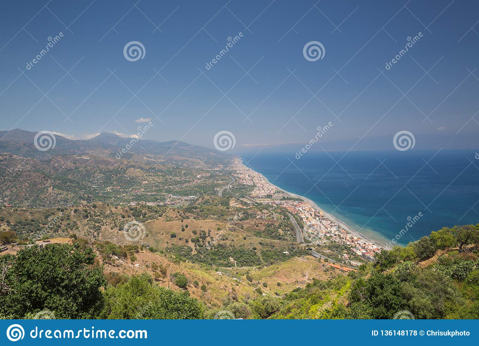 A View from Forza D`agro in Siciliy