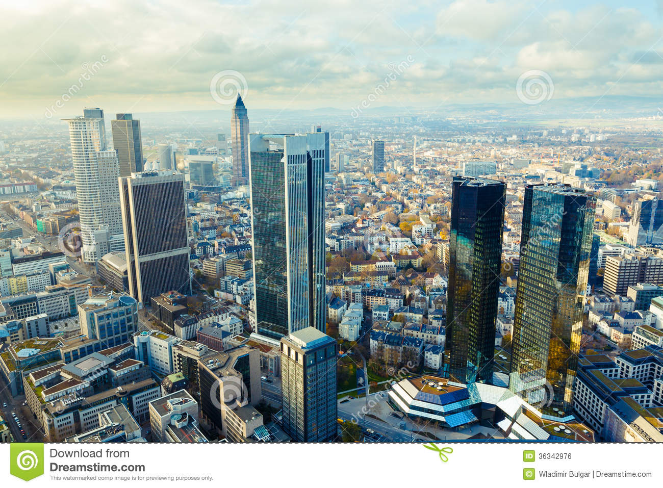 View Of The Frankfurt Skyscrapers Royalty Free Stock Image