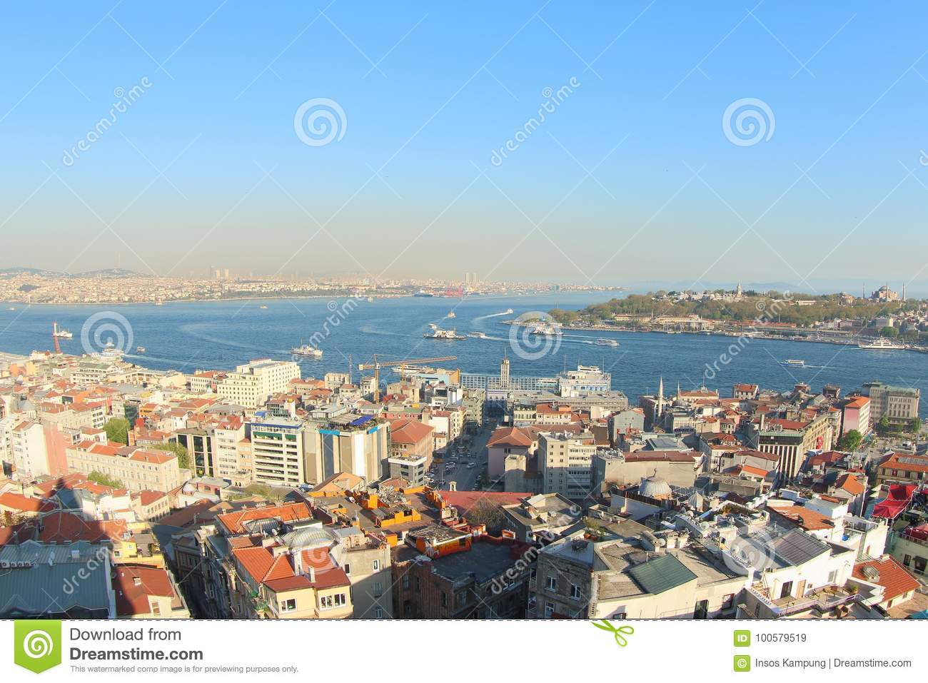View from Galata Tower, Turkey