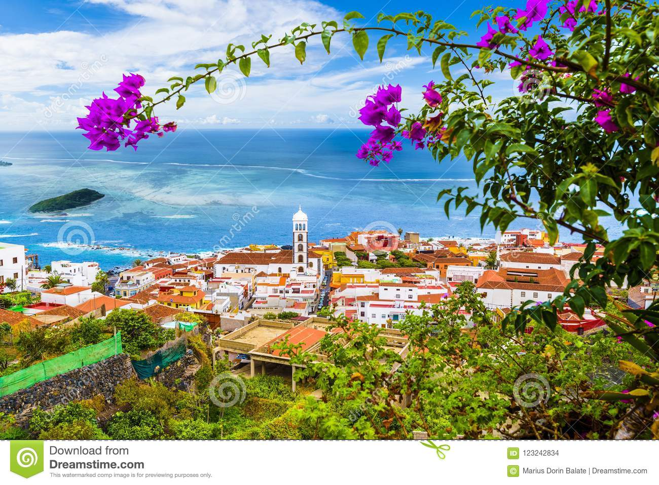 View of Garachico town of Tenerife, Canary Islands, Spain