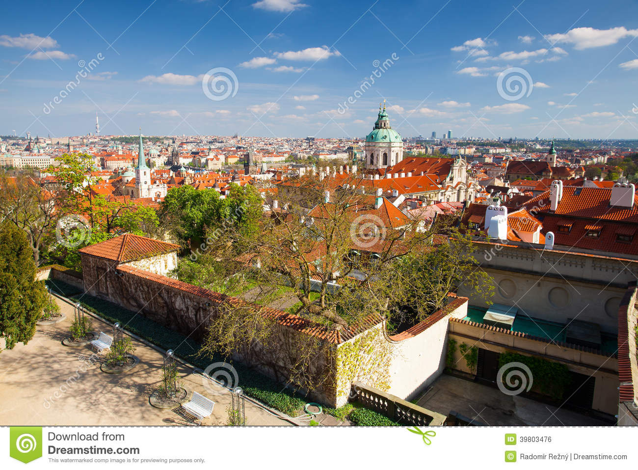 View From Garden Of Paradise On Spring Prague - HDR Photo Stock ...