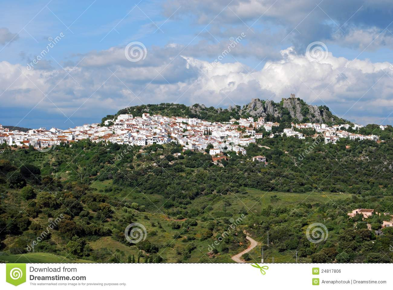 Gaucin Spain  City pictures : View Of Gaucin, Andalusia, Spain. Royalty Free Stock Image Image ...