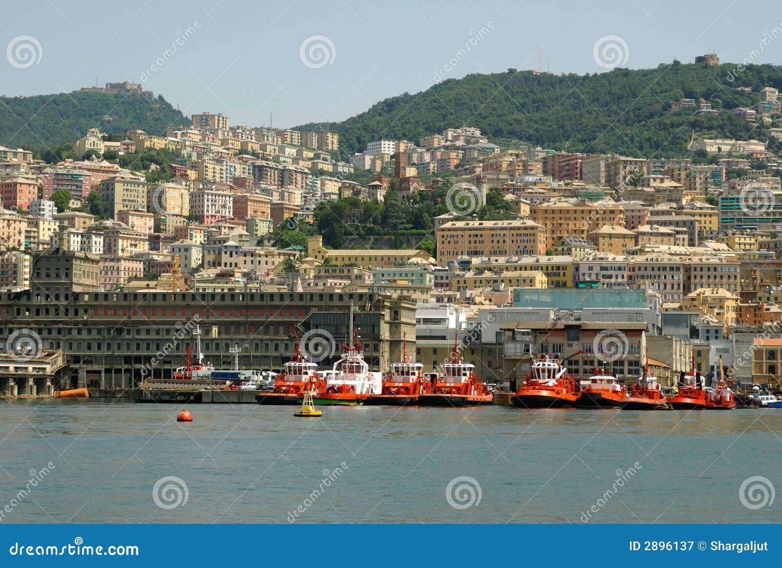 View Of Genoa City Italy Royalty Free Stock Photography Image 2896137
