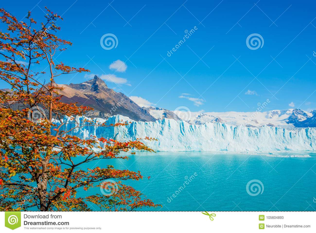 View of glacier Perito Moreno in Patagonia