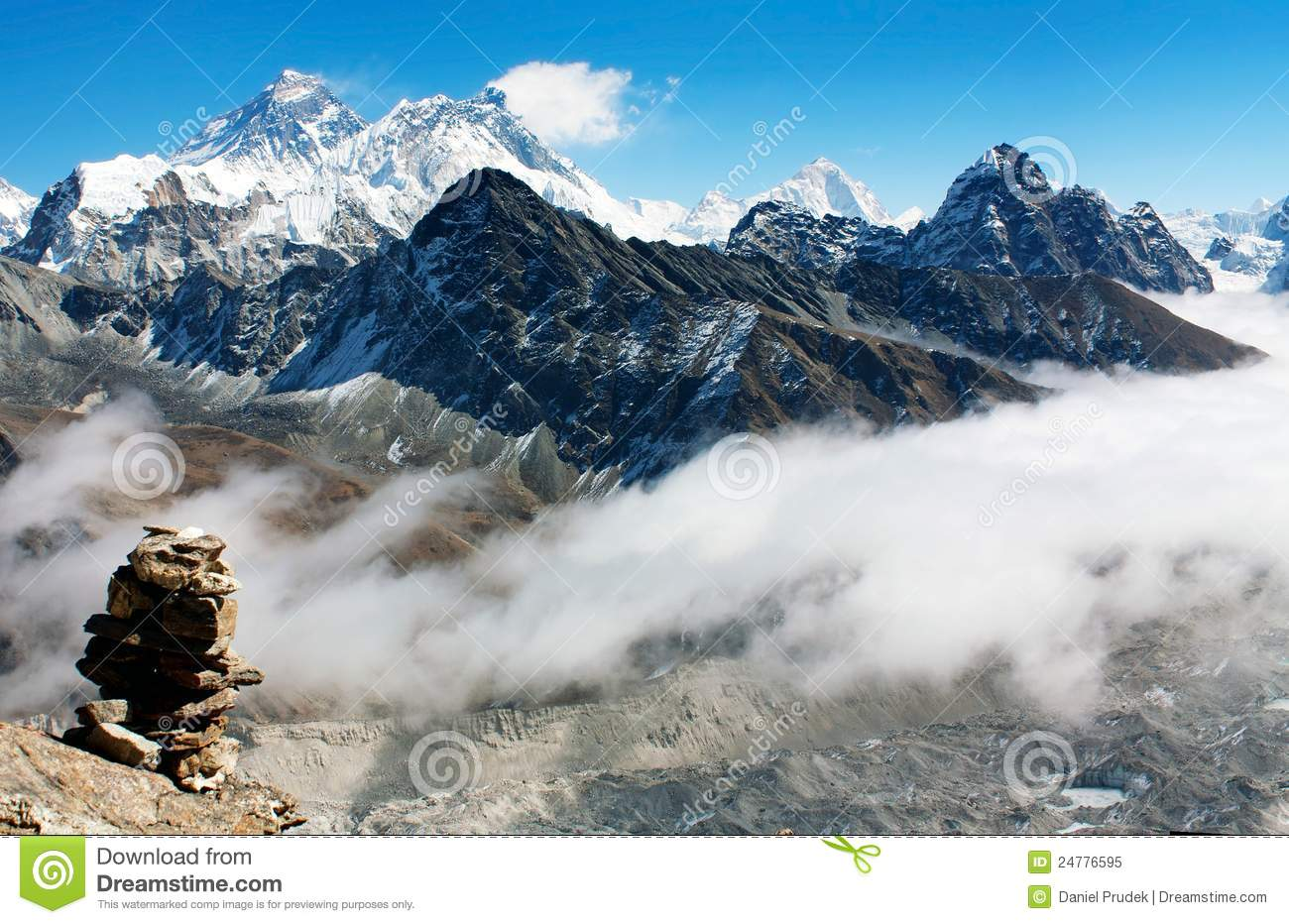 mount everest view from gokyo ri royalty free stock image clip art mountains free clip art mountain range
