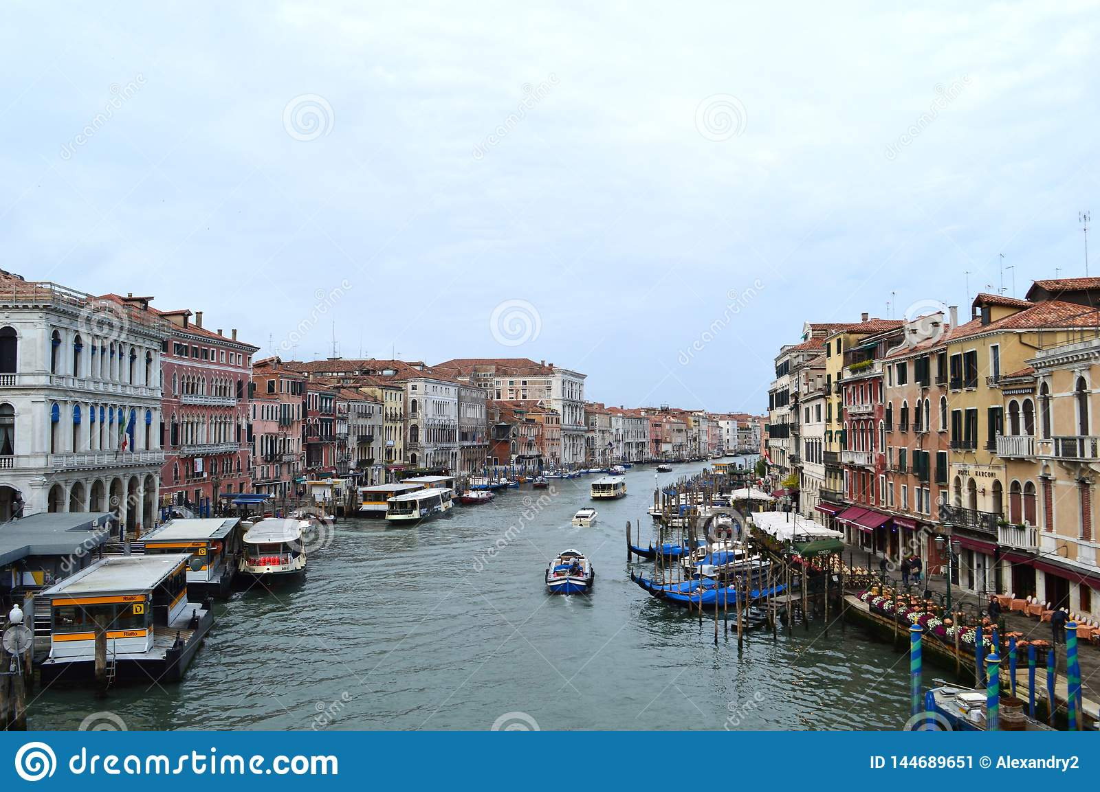 View of Grand canal - Venice, the queen of the Adriatic