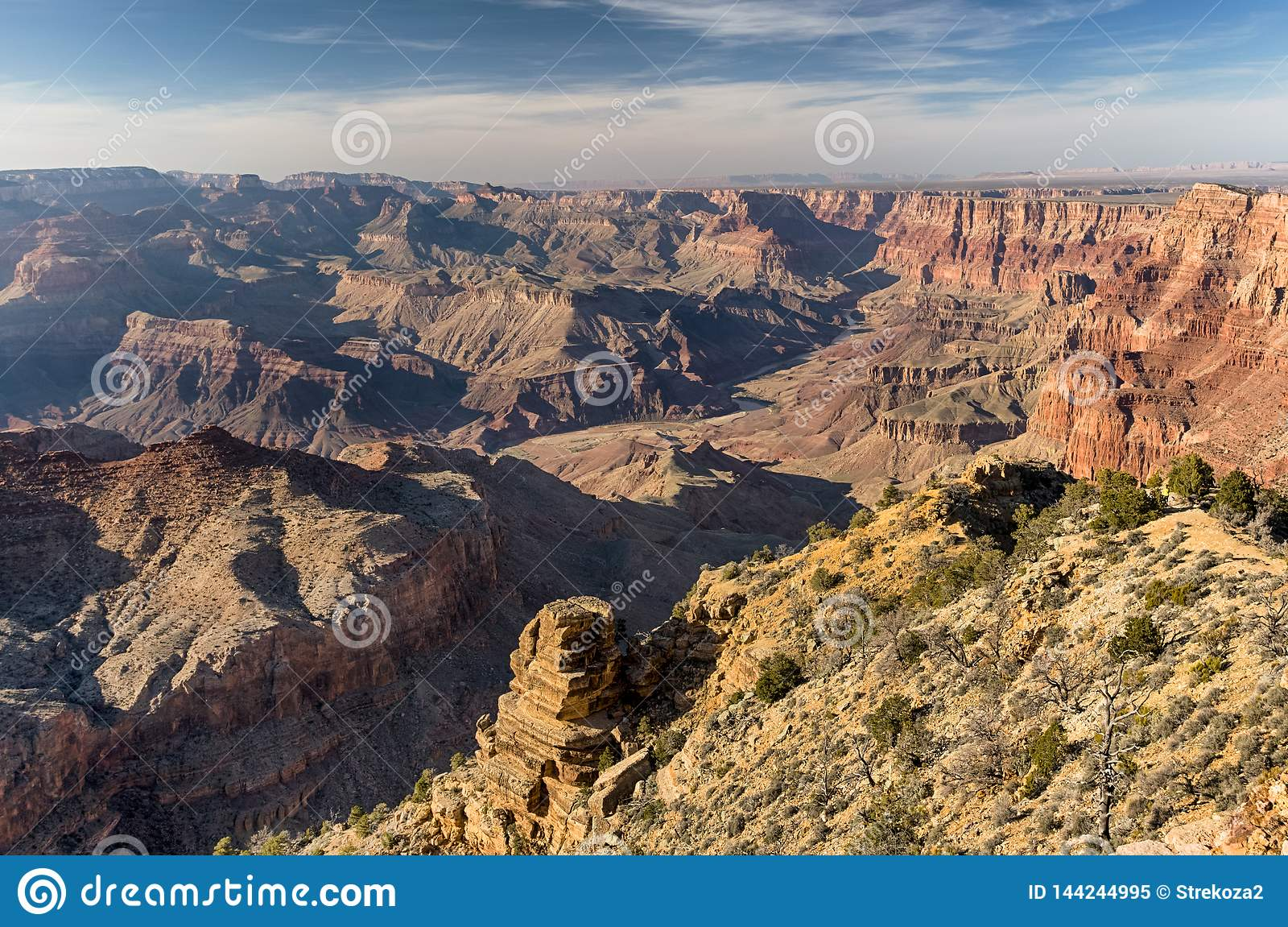 View At The Grand Canyon National Park Arizona Stock Image