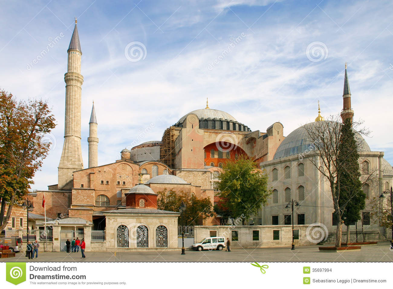 View Of Hagia Sophia Church In Istanbul At Sunset ...