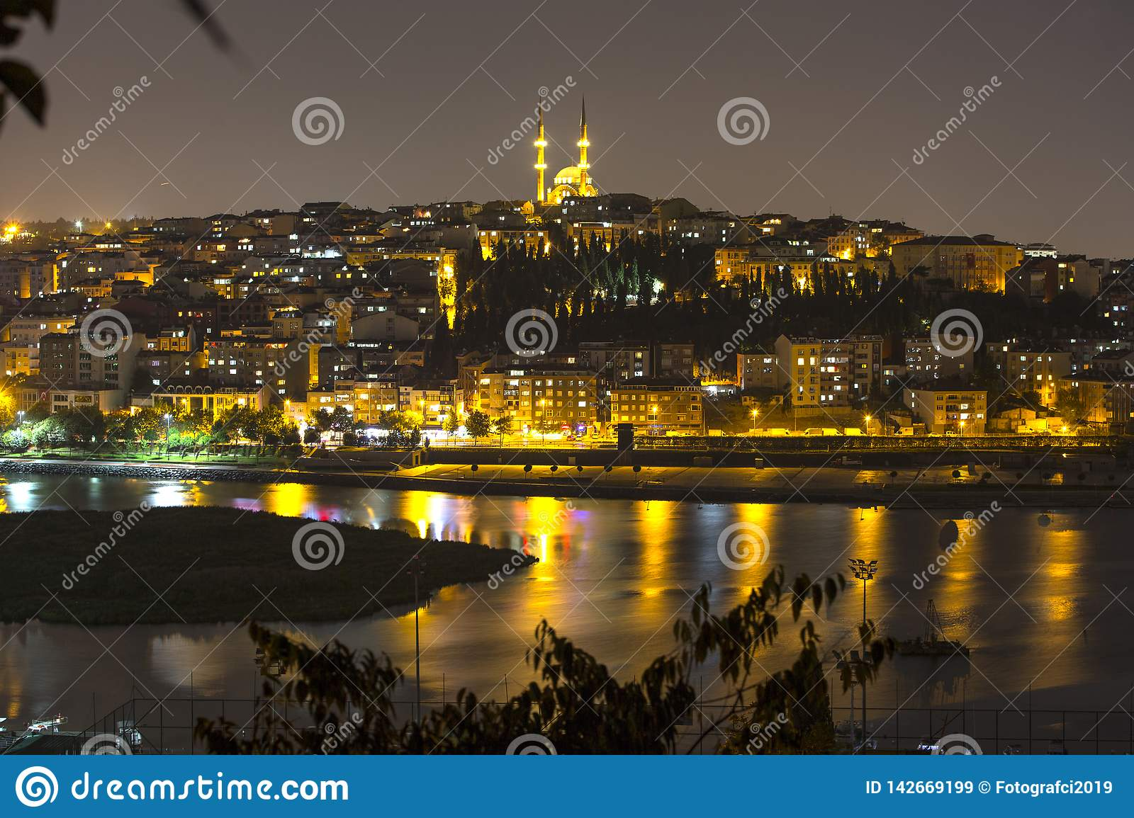 View of the Halic From the Top of Pierre Loti in Istanbul Turkey