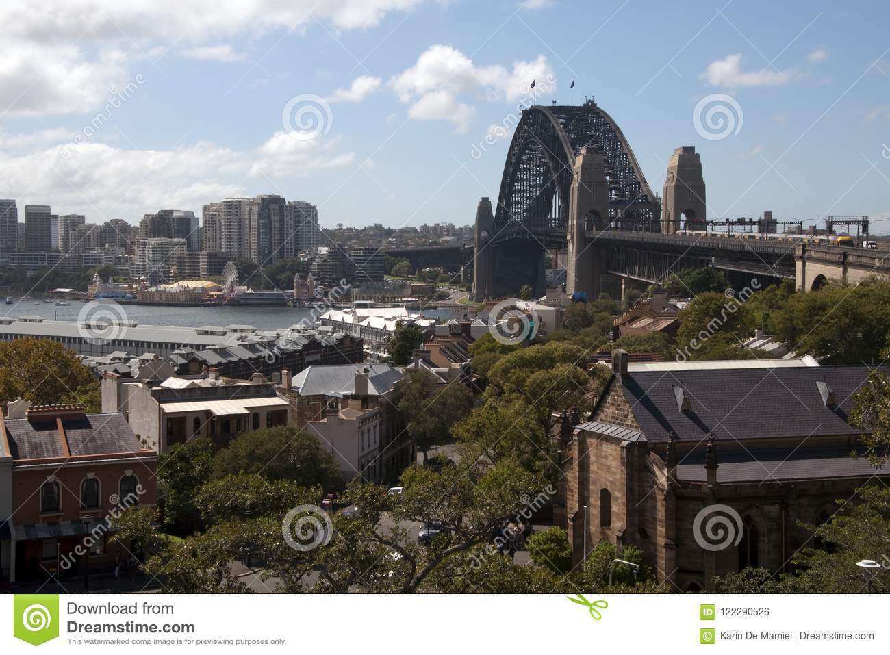 View of the Harbour bridge from Observatory Hill