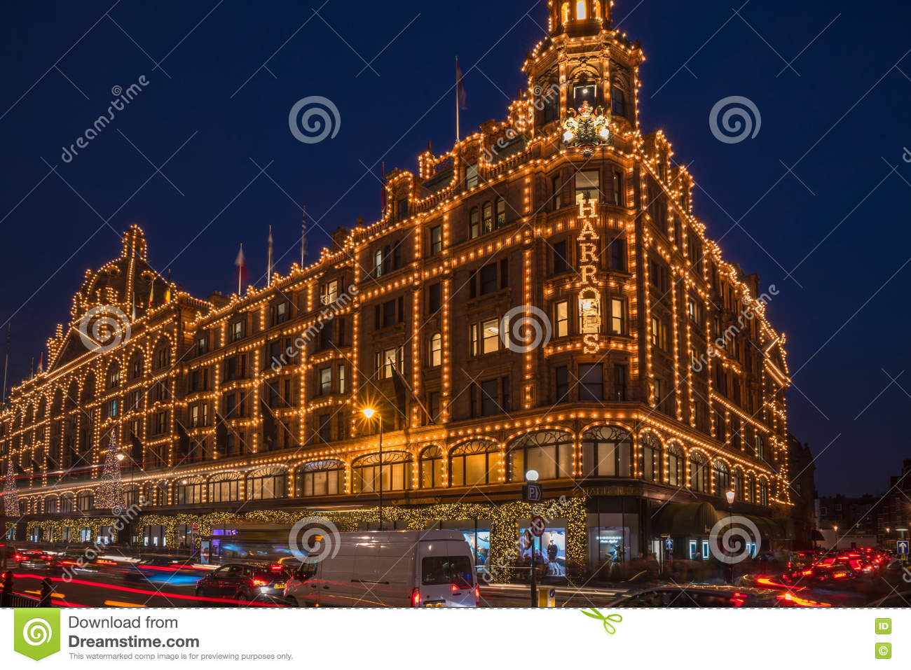 #AD211E View Of Harrods With Christmas Decorations Editorial Photo  6429 décoration noel harrods 1300x957 px @ aertt.com