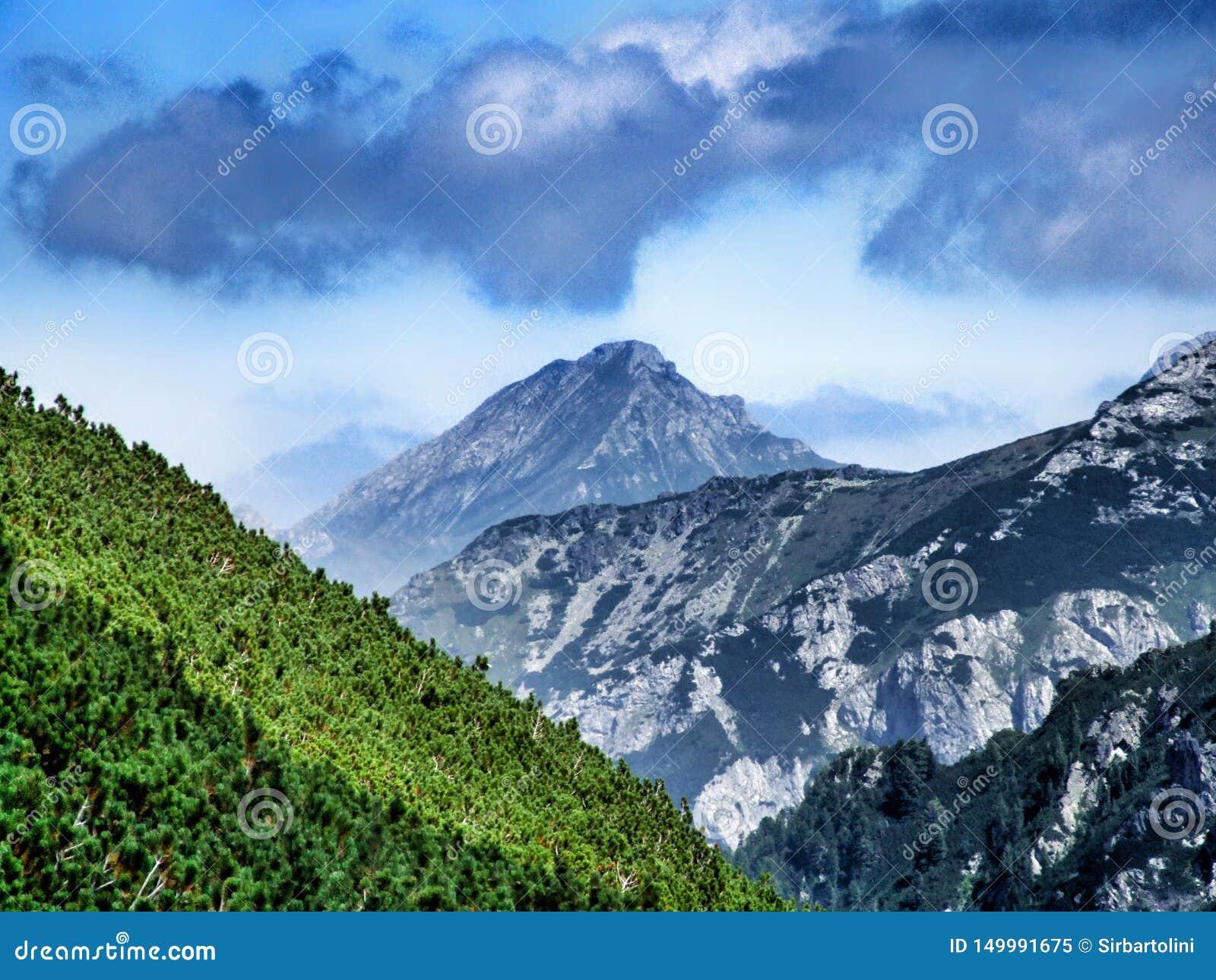View on Havran peak in Belianske Tatra in Slovakia.