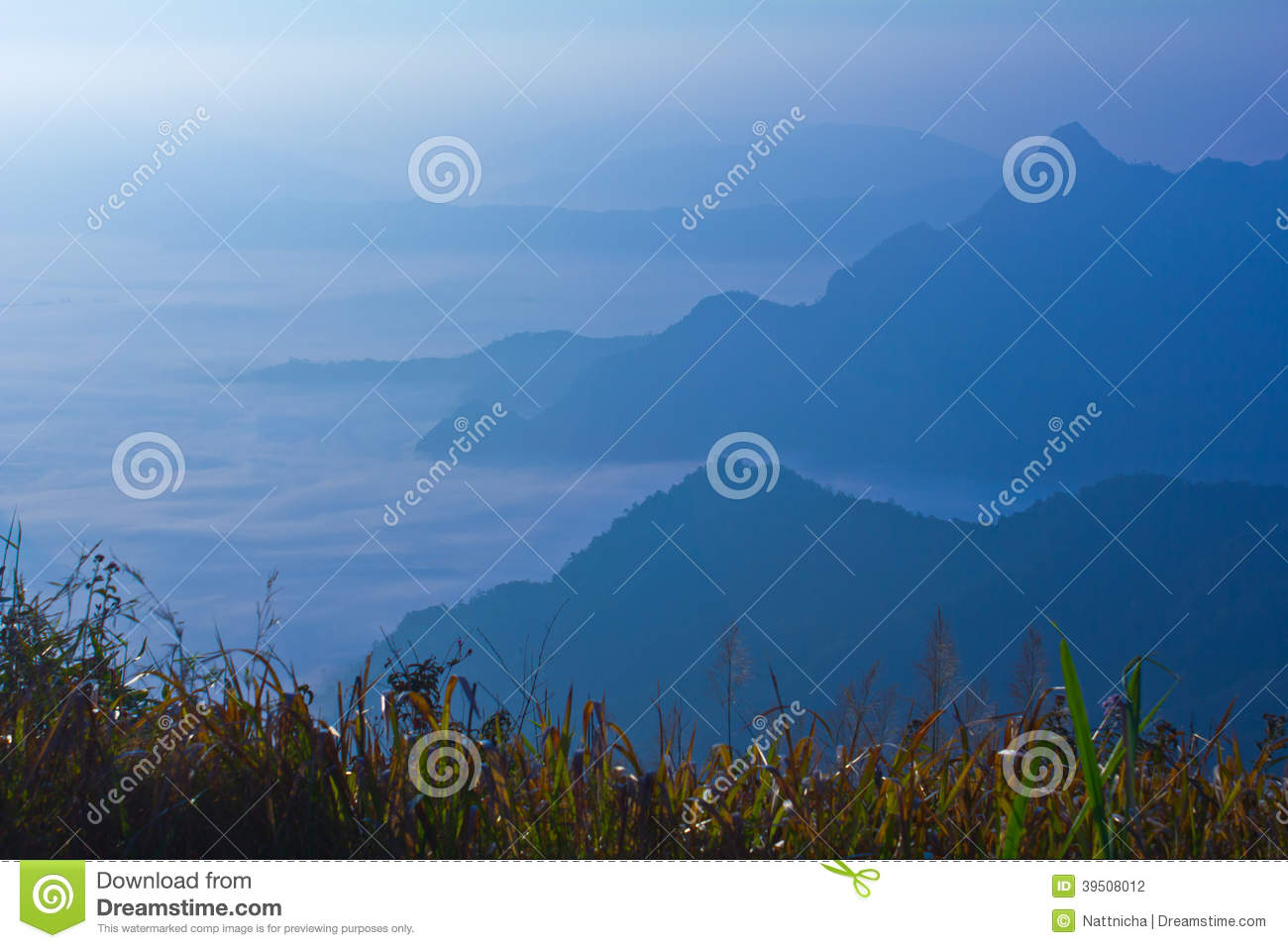 View on high mountain