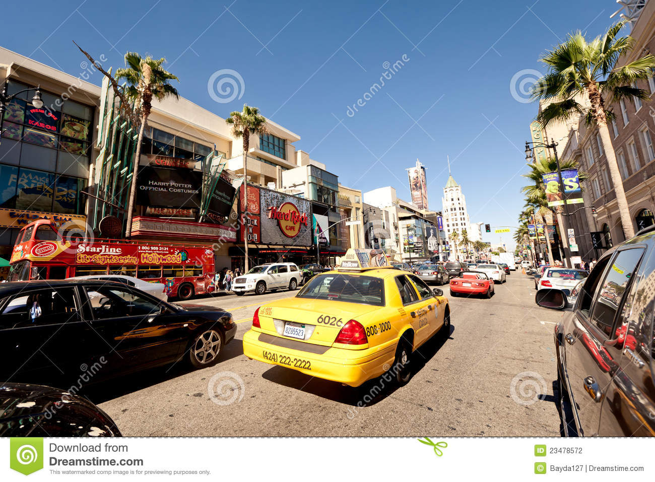 View of Hollywood Boulevard in Los Angeles