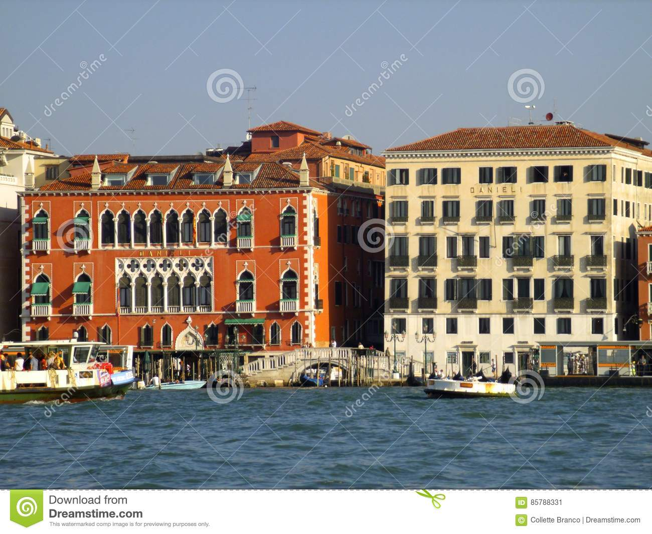 View Of Hotel Danieli Editorial Photo Image Of Canal 85788331