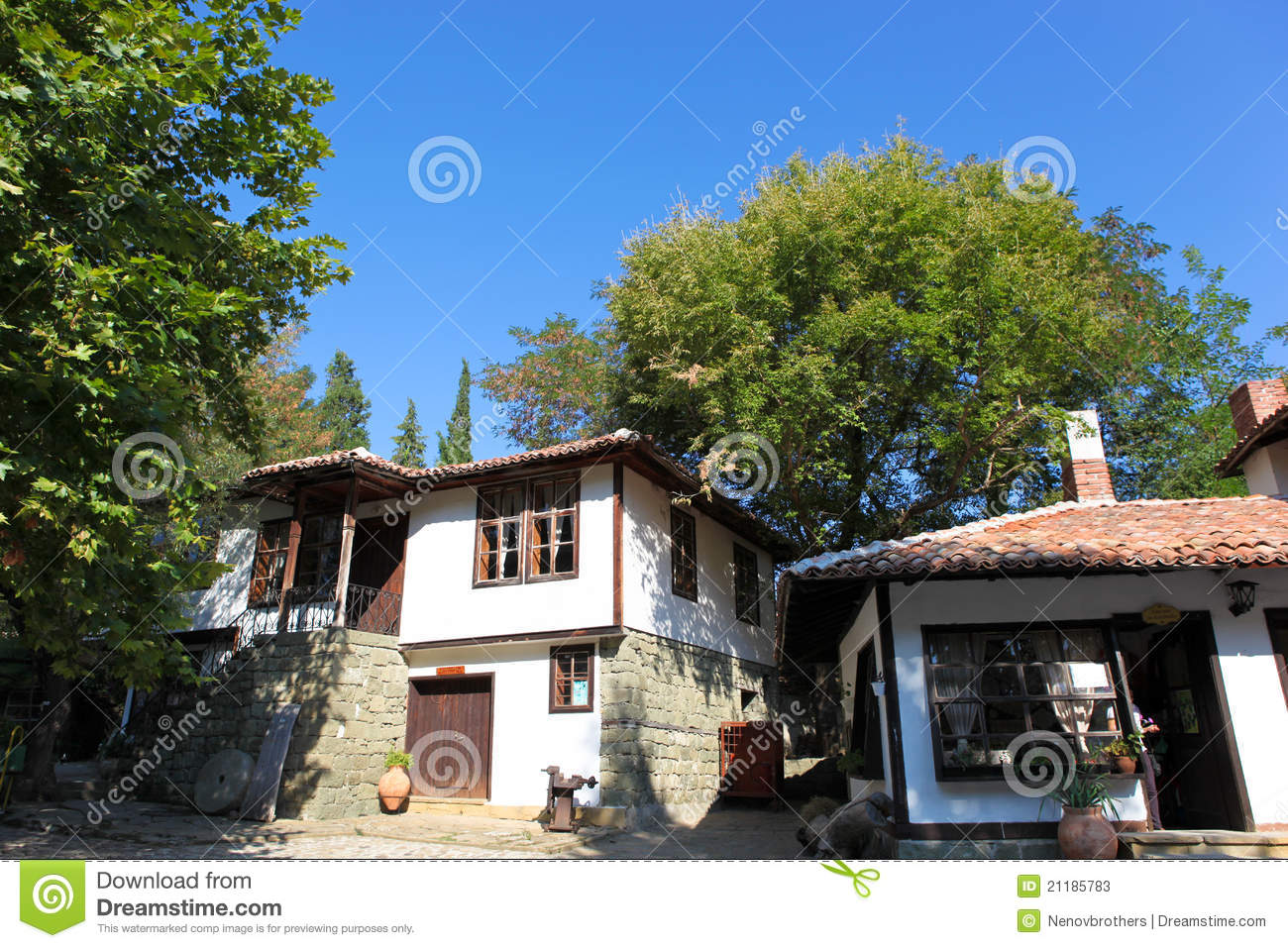 The view of houses in Aytos, Bulgaria