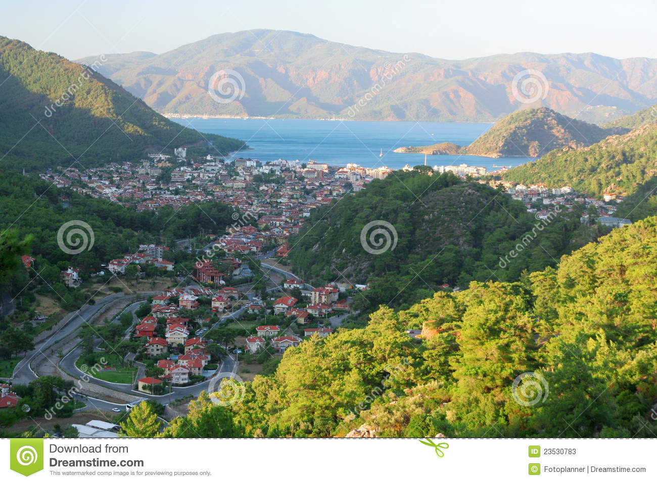 View Of Icmeler, Marmaris Stock Photos - Image: 23530783