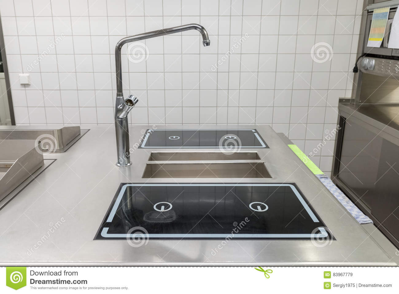 Industrial Kitchen Equipment | View Of The Industrial Kitchen Equipment Stock Image Image Of