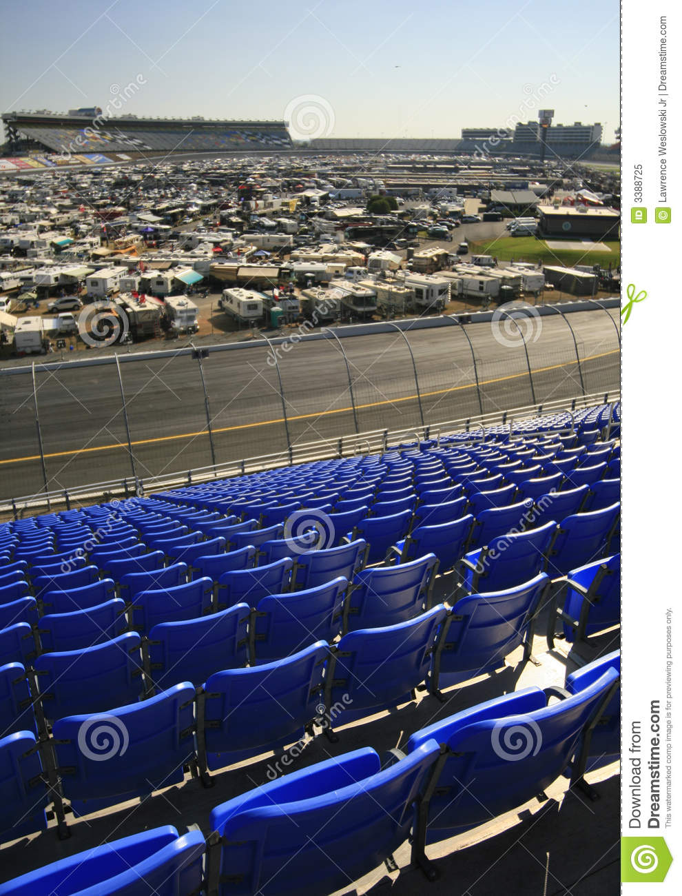 View of the infield at lowes motor speedway royalty free for Lowe s motor speedway
