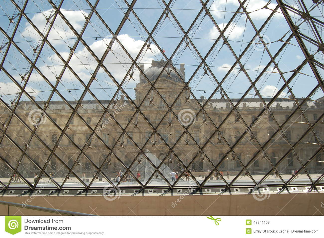 View From Inside Louvre In Paris, France Stock Image - Image of ...