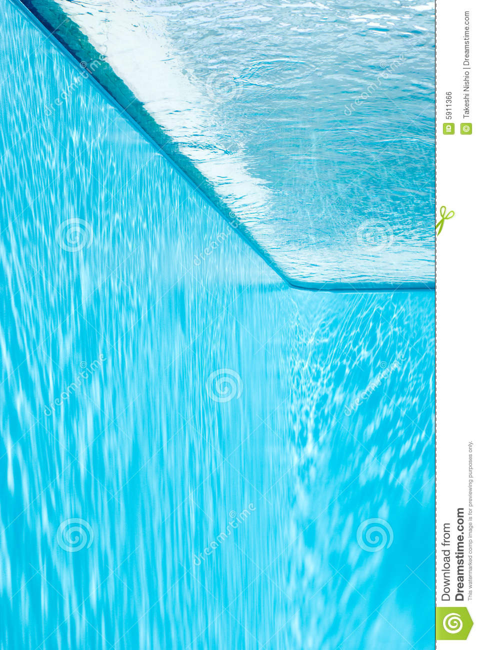 Free Swimming Pool: View From Inside Of Swimming Pool. Royalty Free Stock