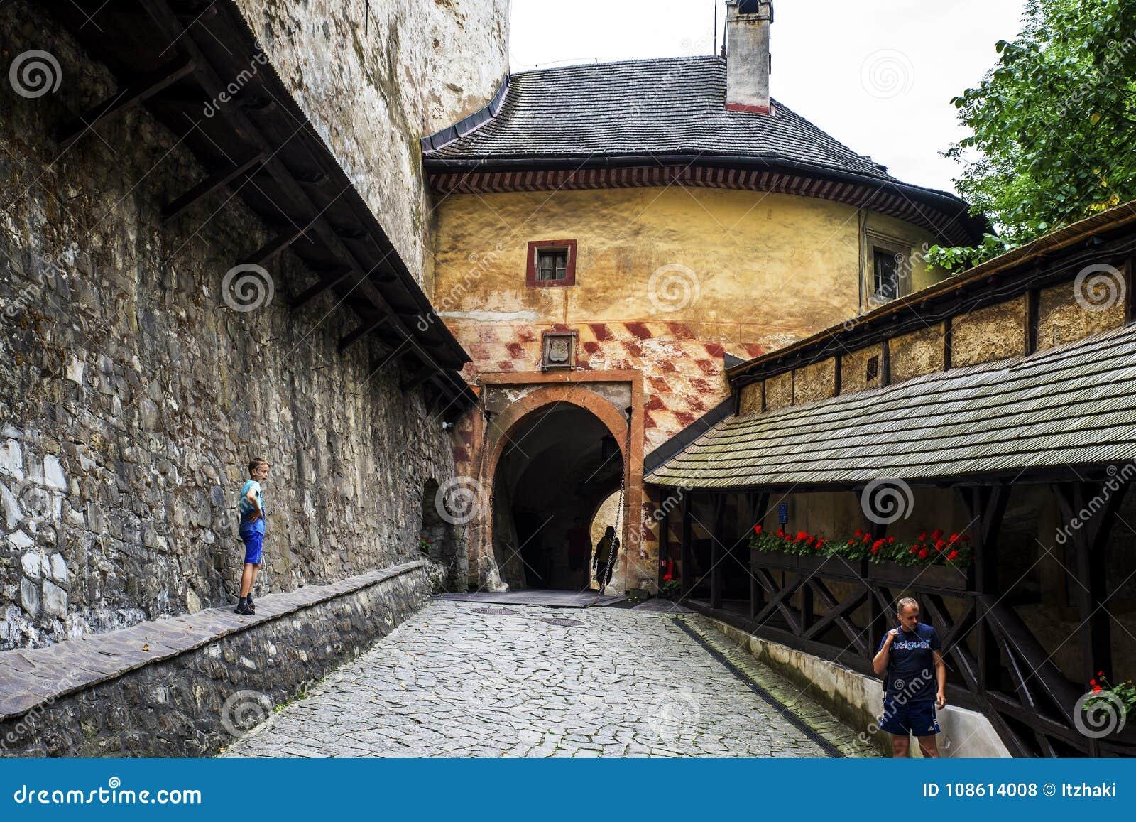 Main gate to Orava Castle, Slovakia