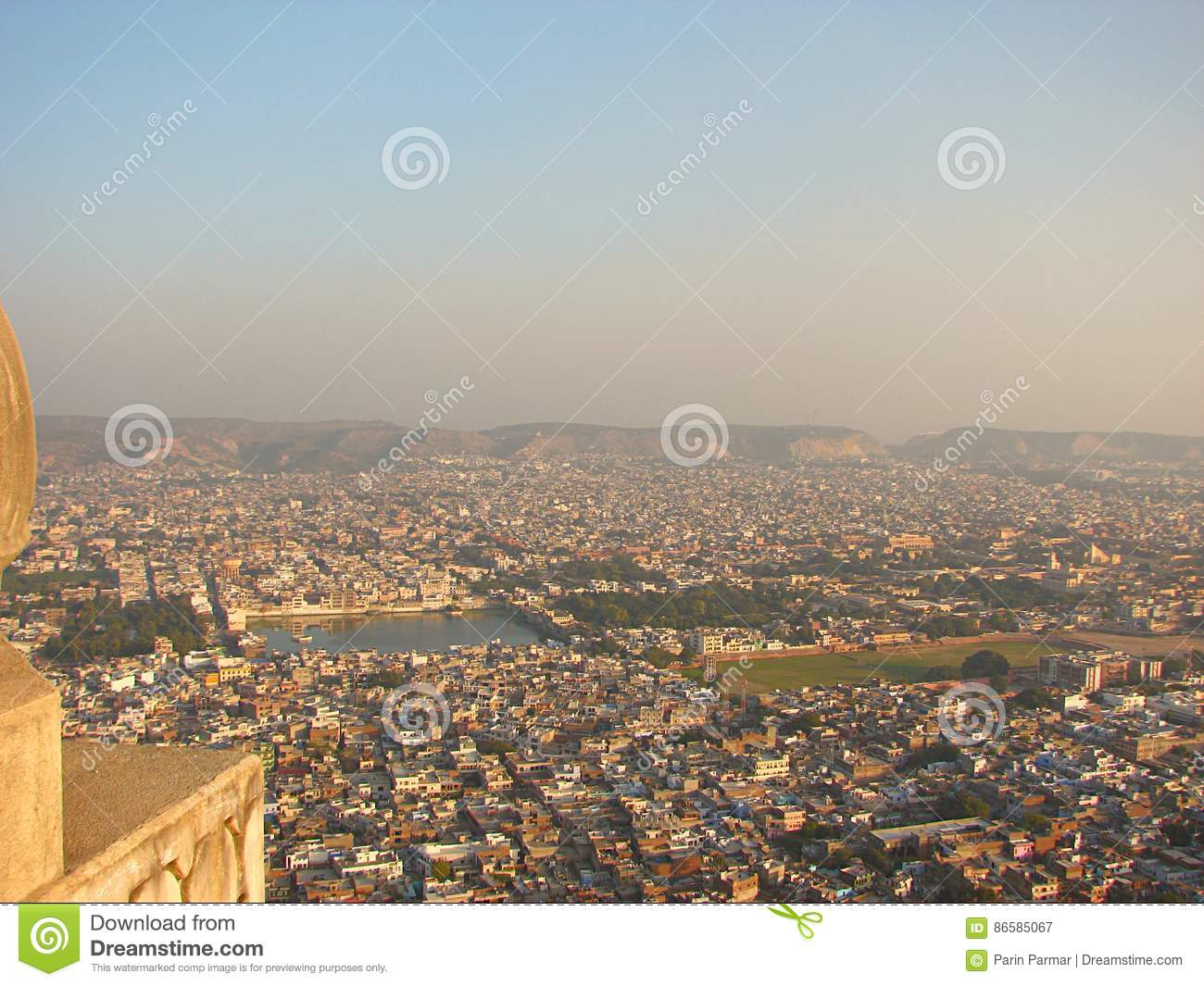 View of Jaipur City from Nahargarh Fort, Rajasthan, India