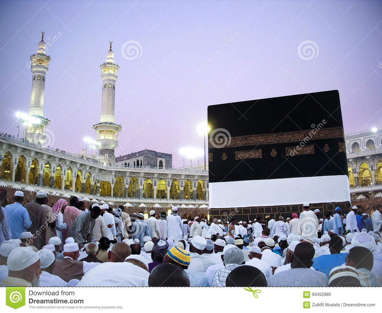 View Of Kaaba Editorial Stock Image Image Of Makkah 93452989
