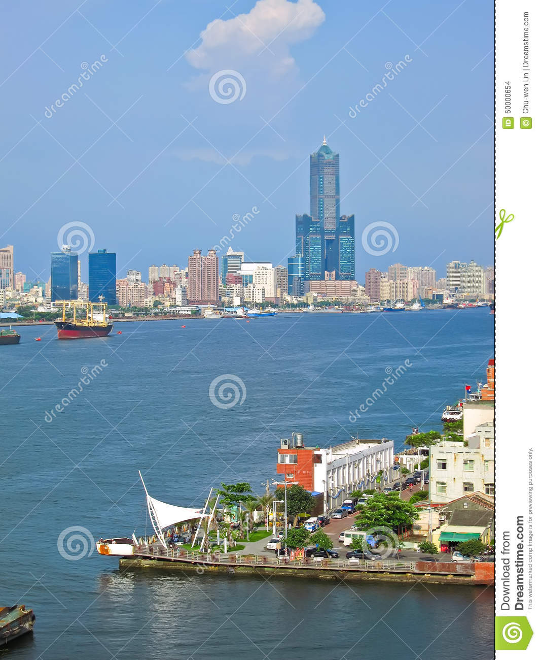 View of Kaohsiung Harbor