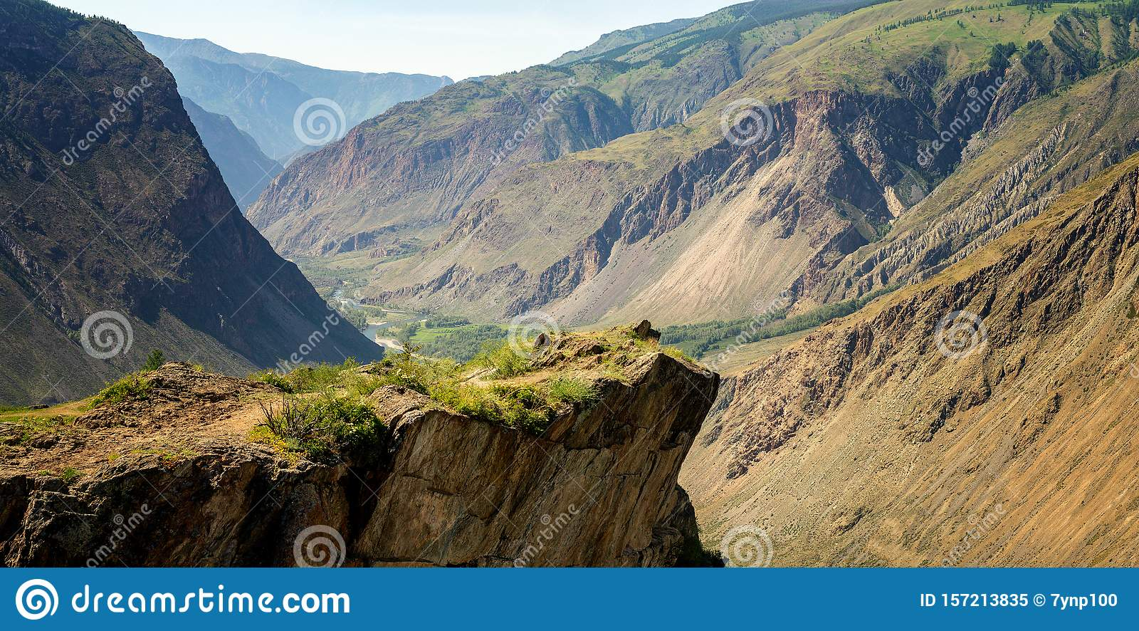 View of katu-Yaryk gorge, Gorny Altai, Russia