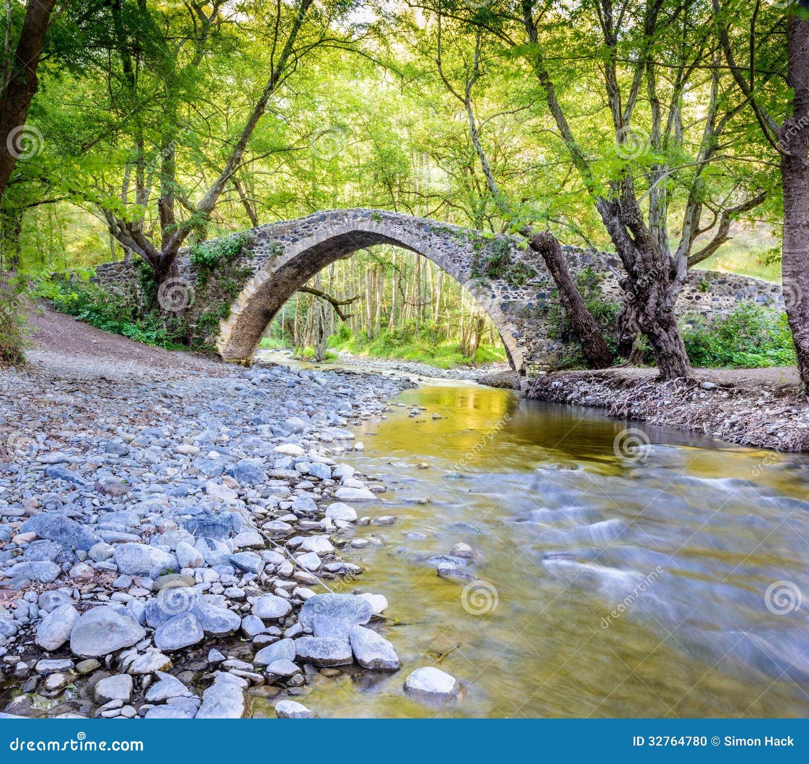 A View Kelefos Bridge,cyprus Stock Photo