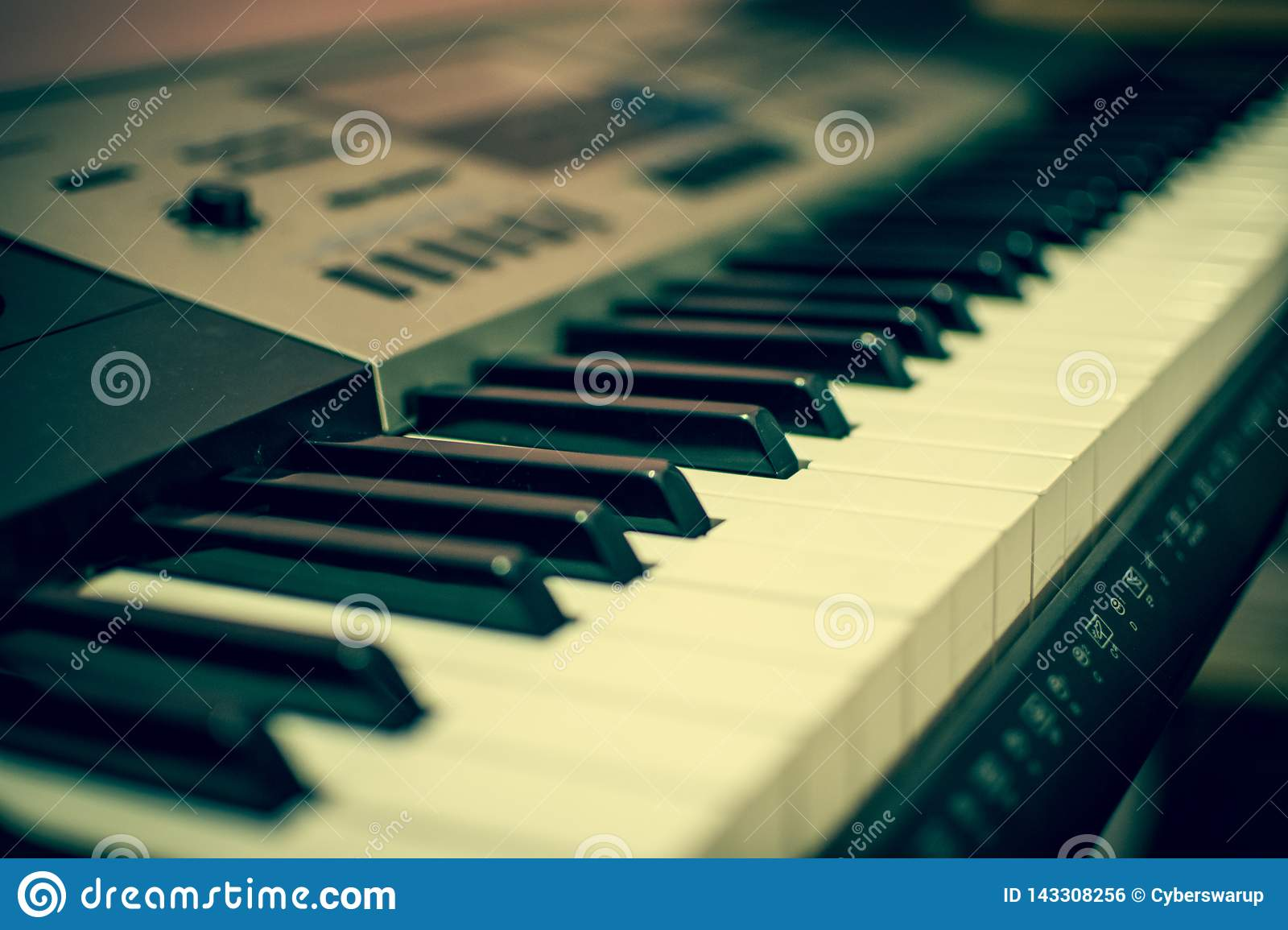 View of a keyboard - the music creator