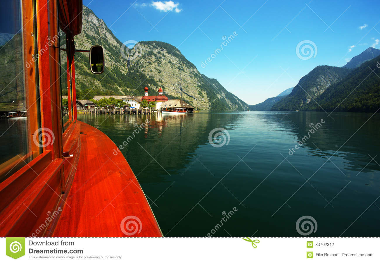 View Of The Lake Of Königsee Stock Photo