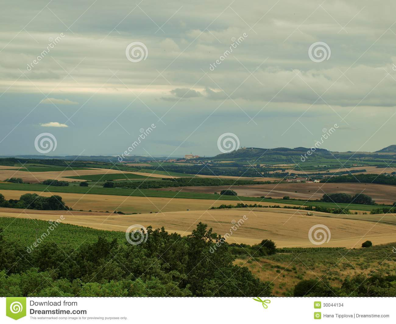 View of the landscape of South Moravia