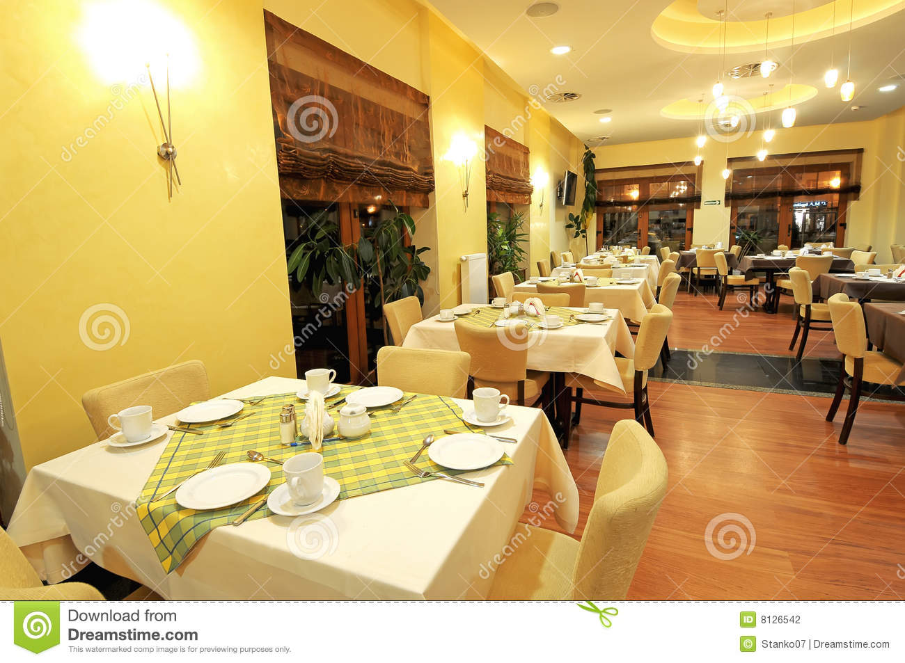 A view of large dining room