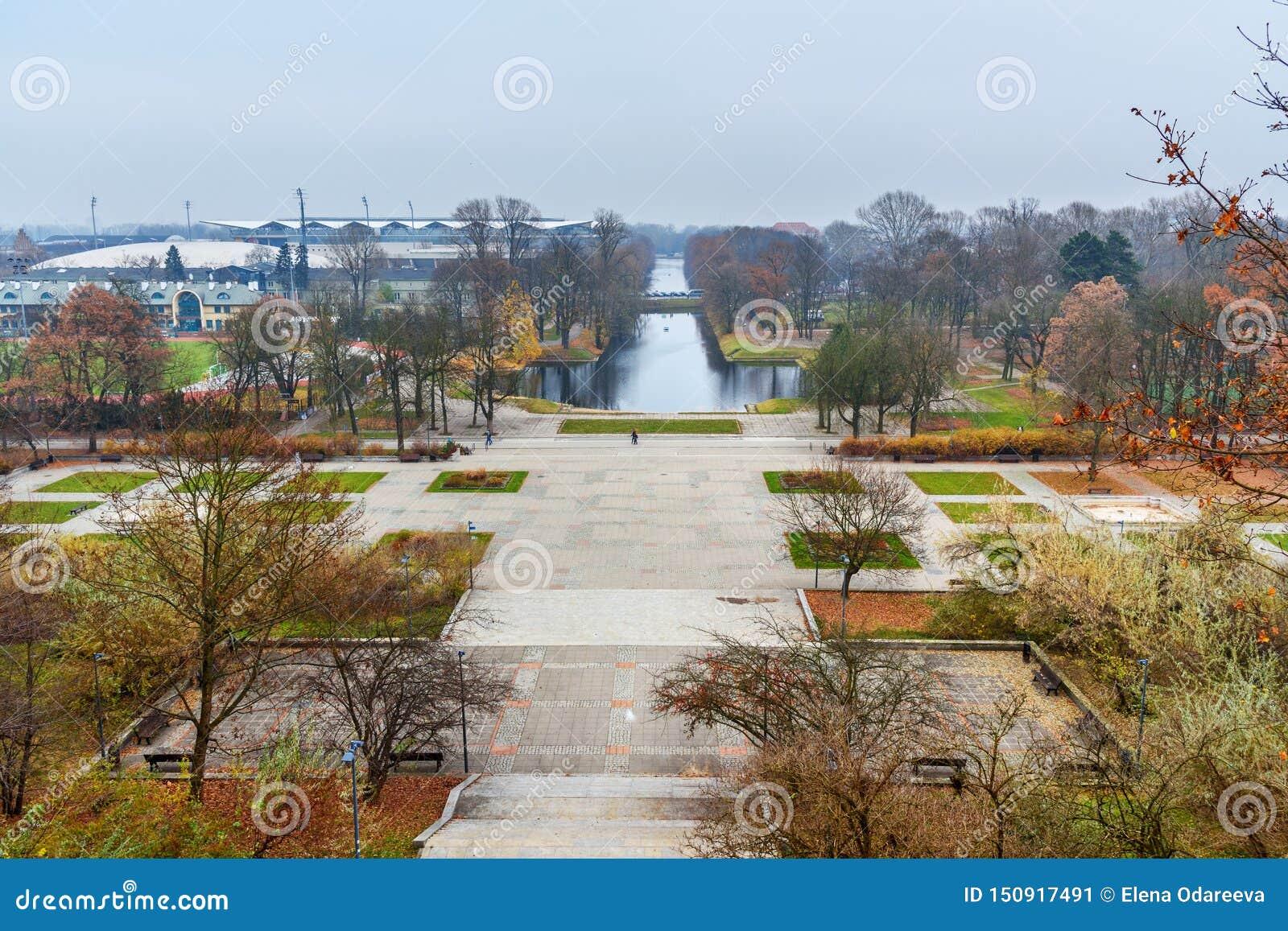 View Of Lazienki Park Or Royal Baths Park With Piaseczyski