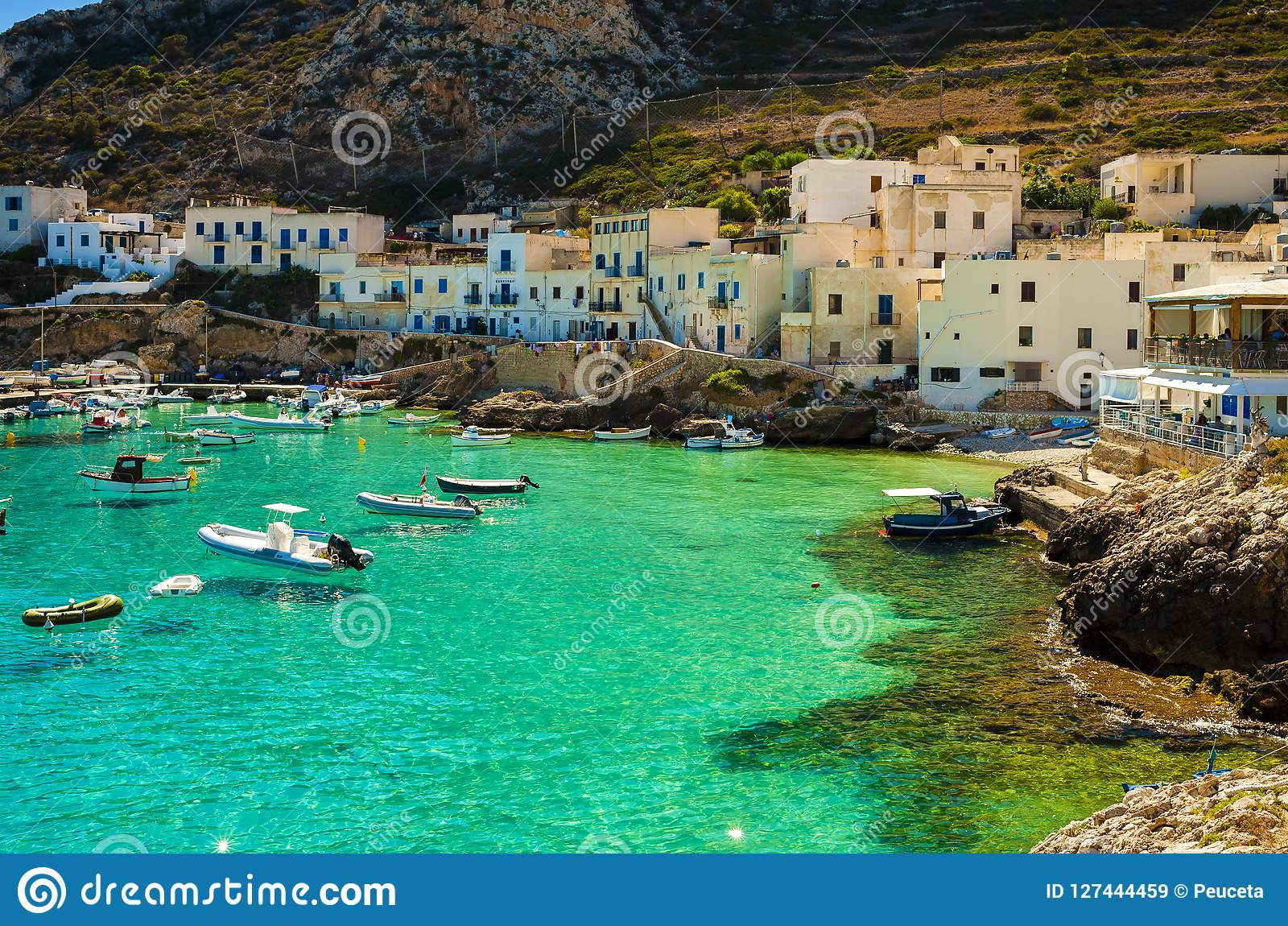 A View Of Levanzo Island, Sicily Stock Image - Image of fishing ...