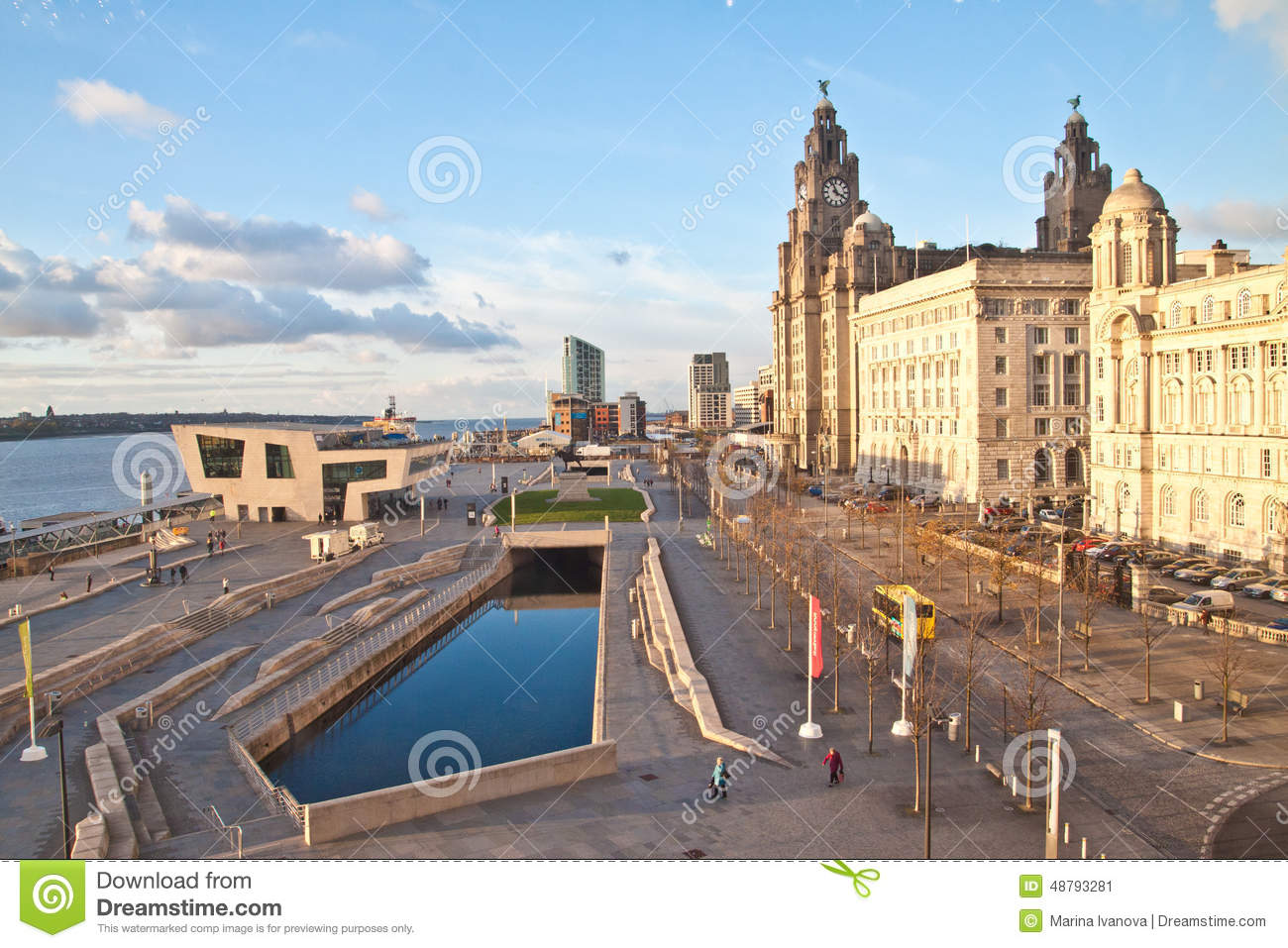 View of liverpool waterfront