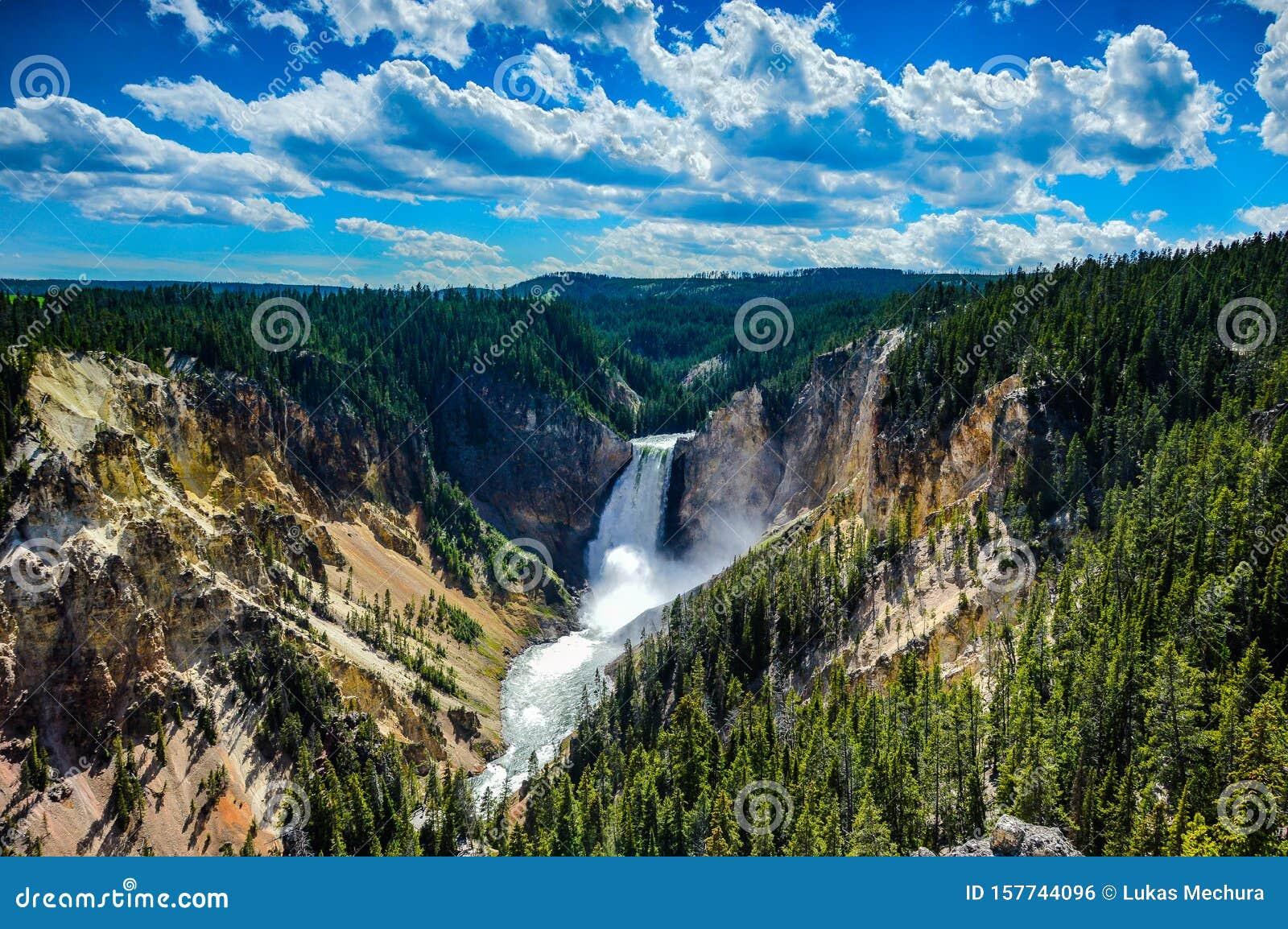 Yellowstone Lower Falls - Waterfall in Yellowstone