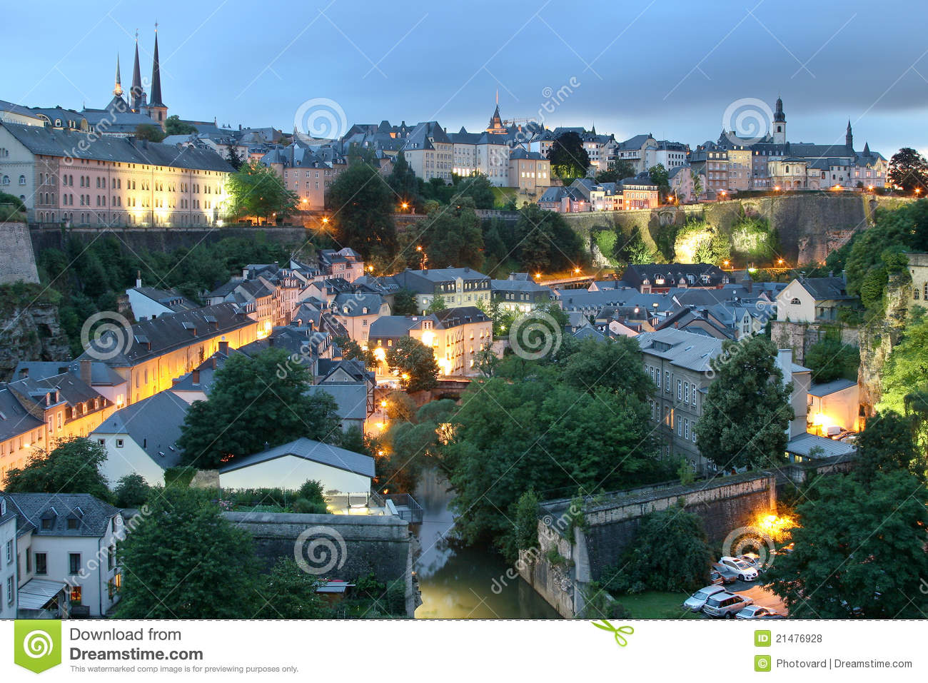 view of luxembourg city historic center royalty free stock photos image 21476928. Black Bedroom Furniture Sets. Home Design Ideas