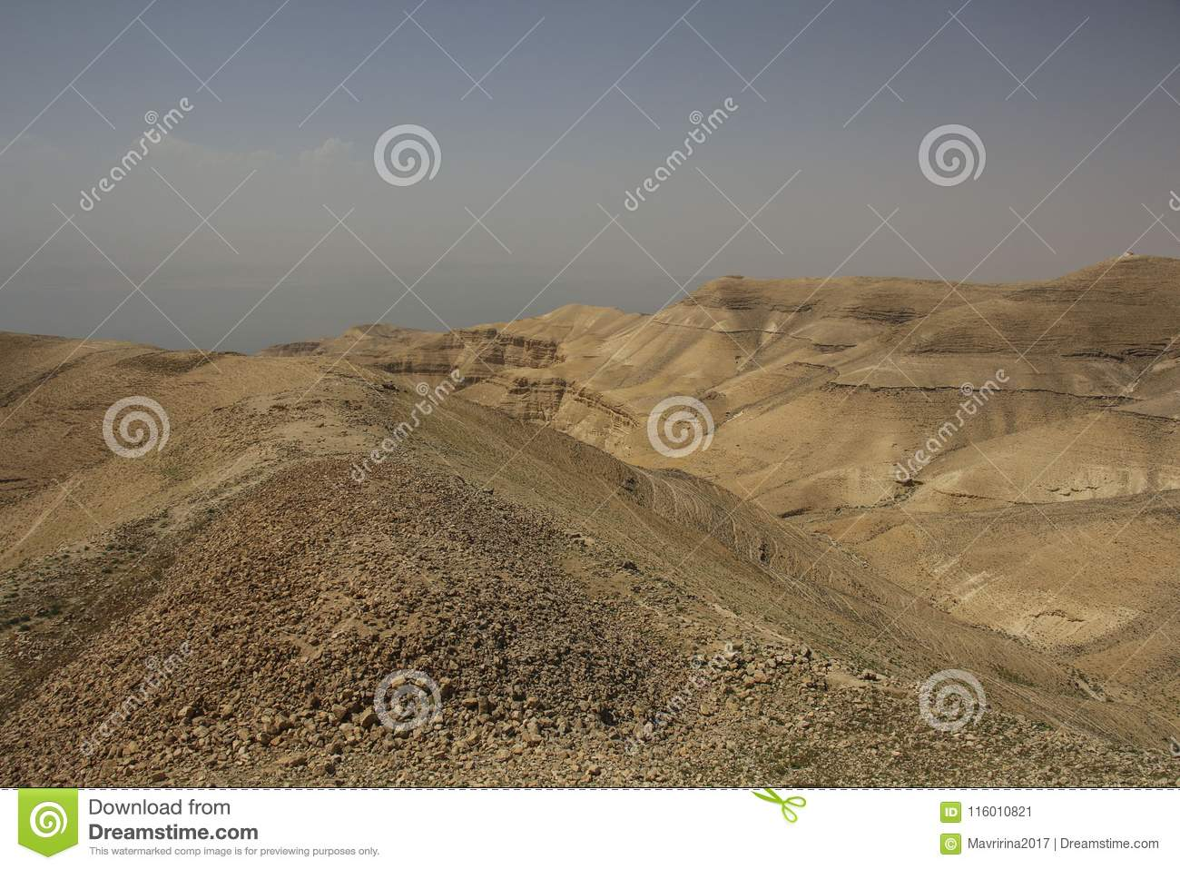 view from the machaerus and herod castle ruins jordan place of