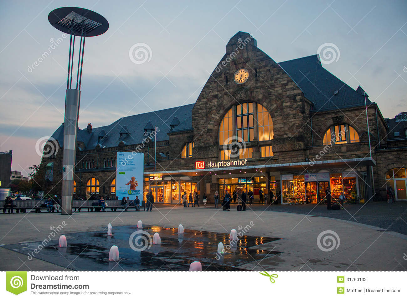 Main Railway Station In Aachen Editorial Photo Image 32270756