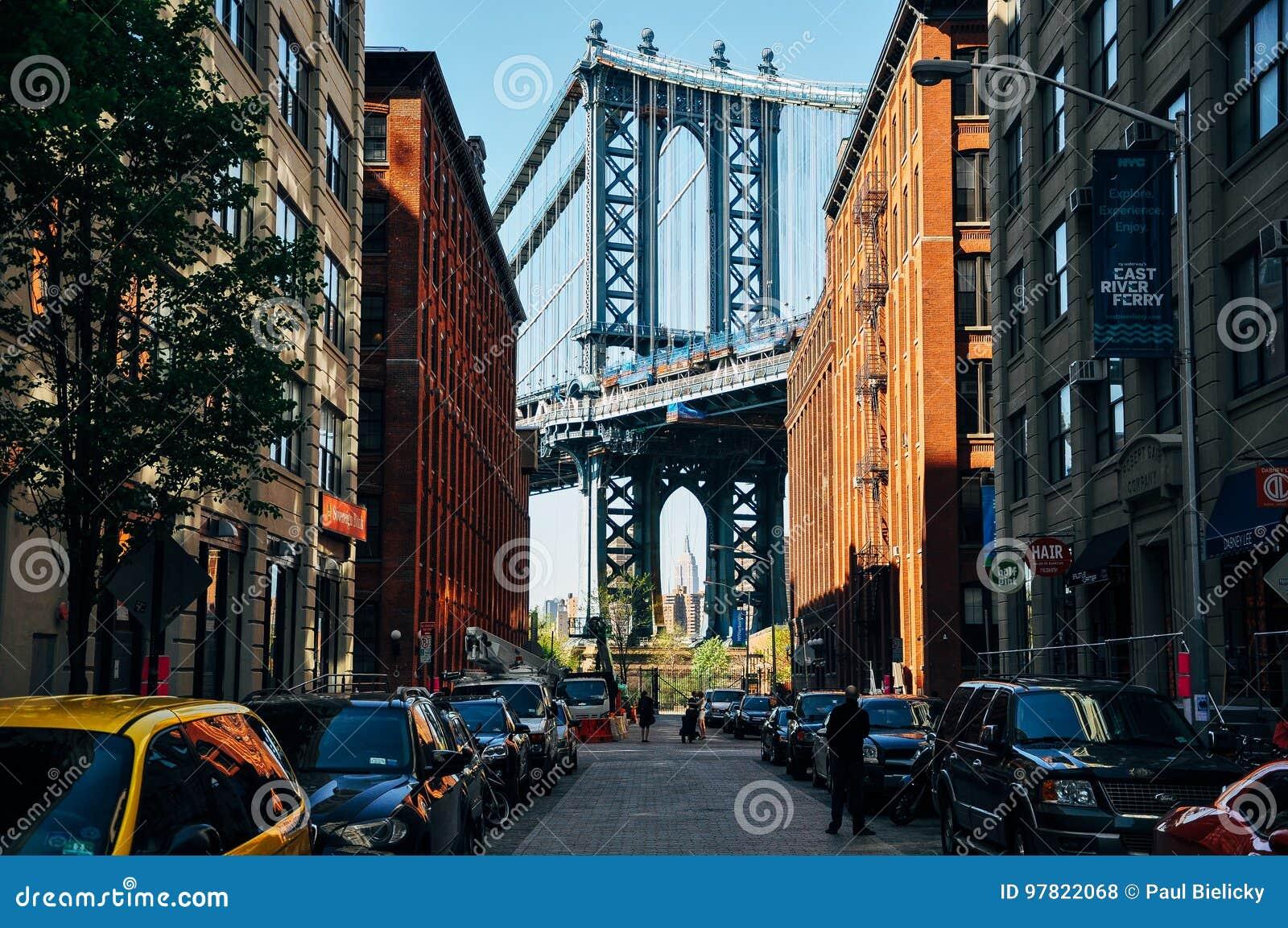 A view of Manhattan bridge from Dumbo.