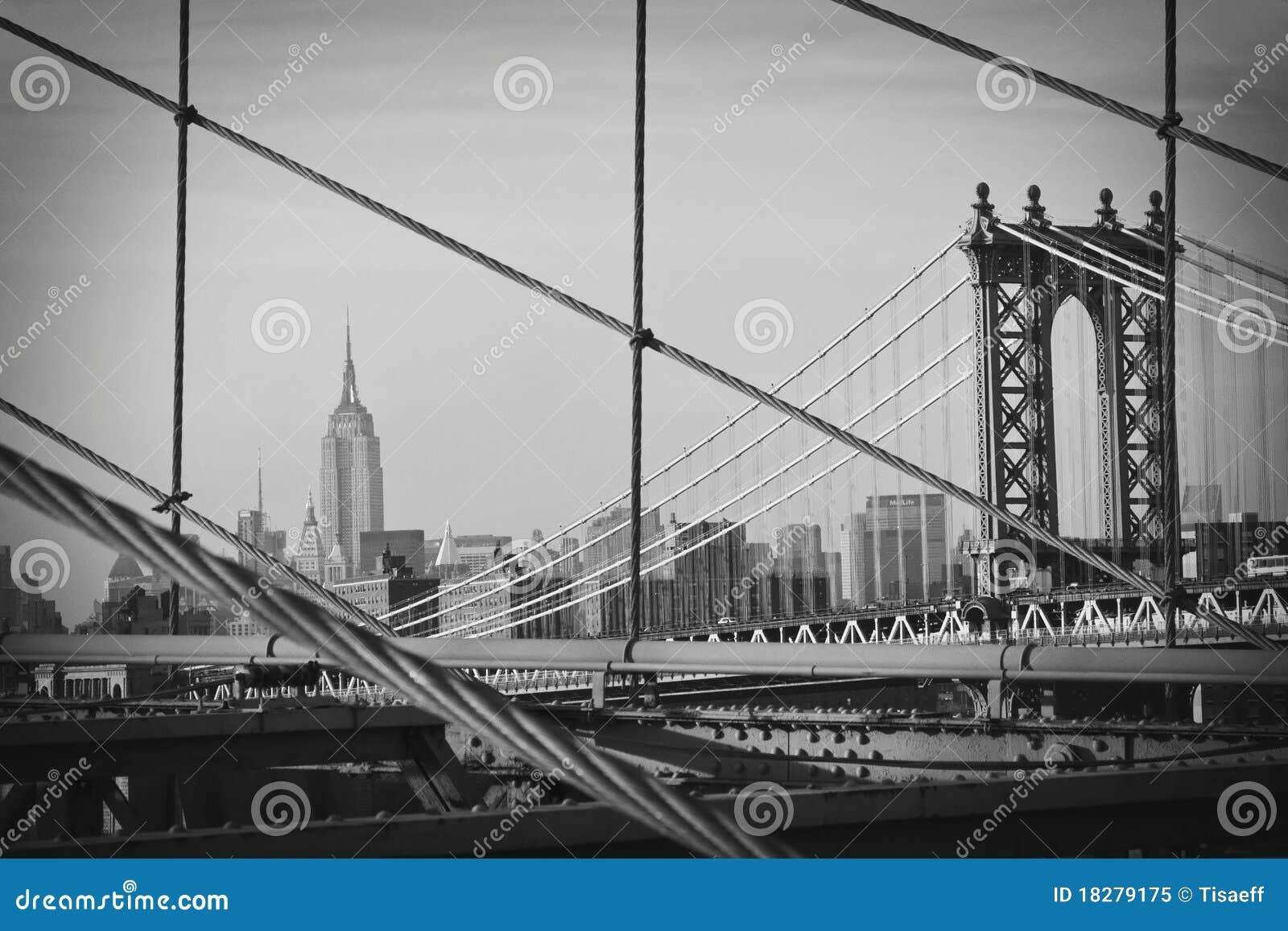 A view of Manhattan from Brooklyn Bridge