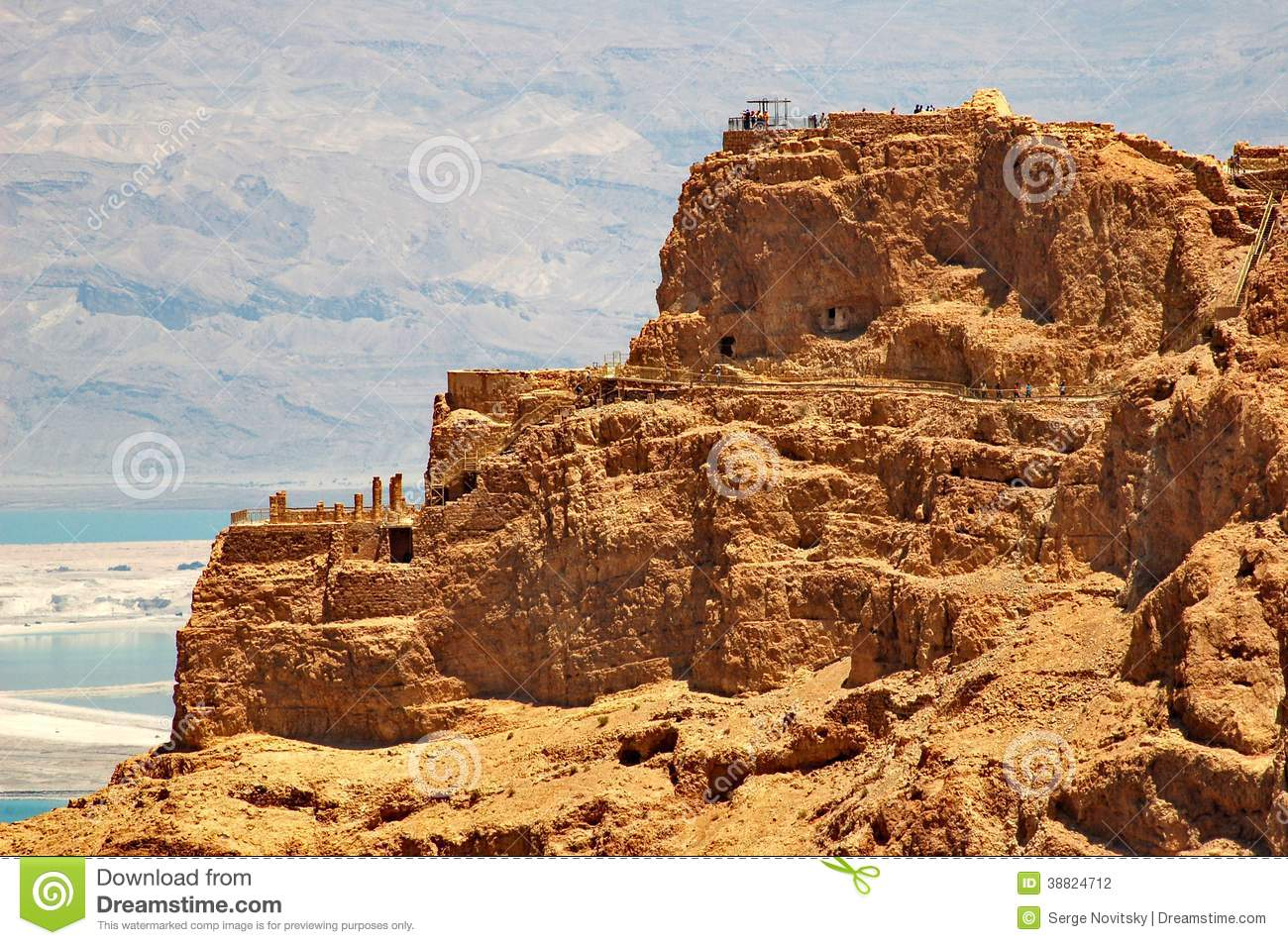 View of Masada and Dead Sea