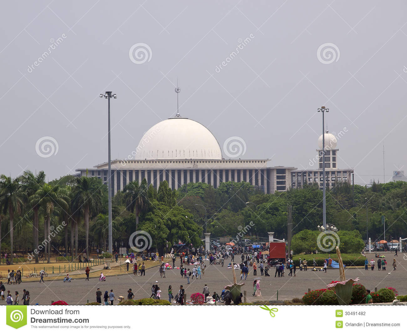 View Of Masjid Istiqlal Editorial Photography Image Of Minaret