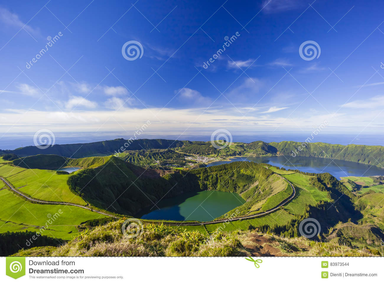 Download View From Miradouro Da Boca Do Inferno, Azores, Portugal Stock Photo - Image of beautiful, hiking: 83973544