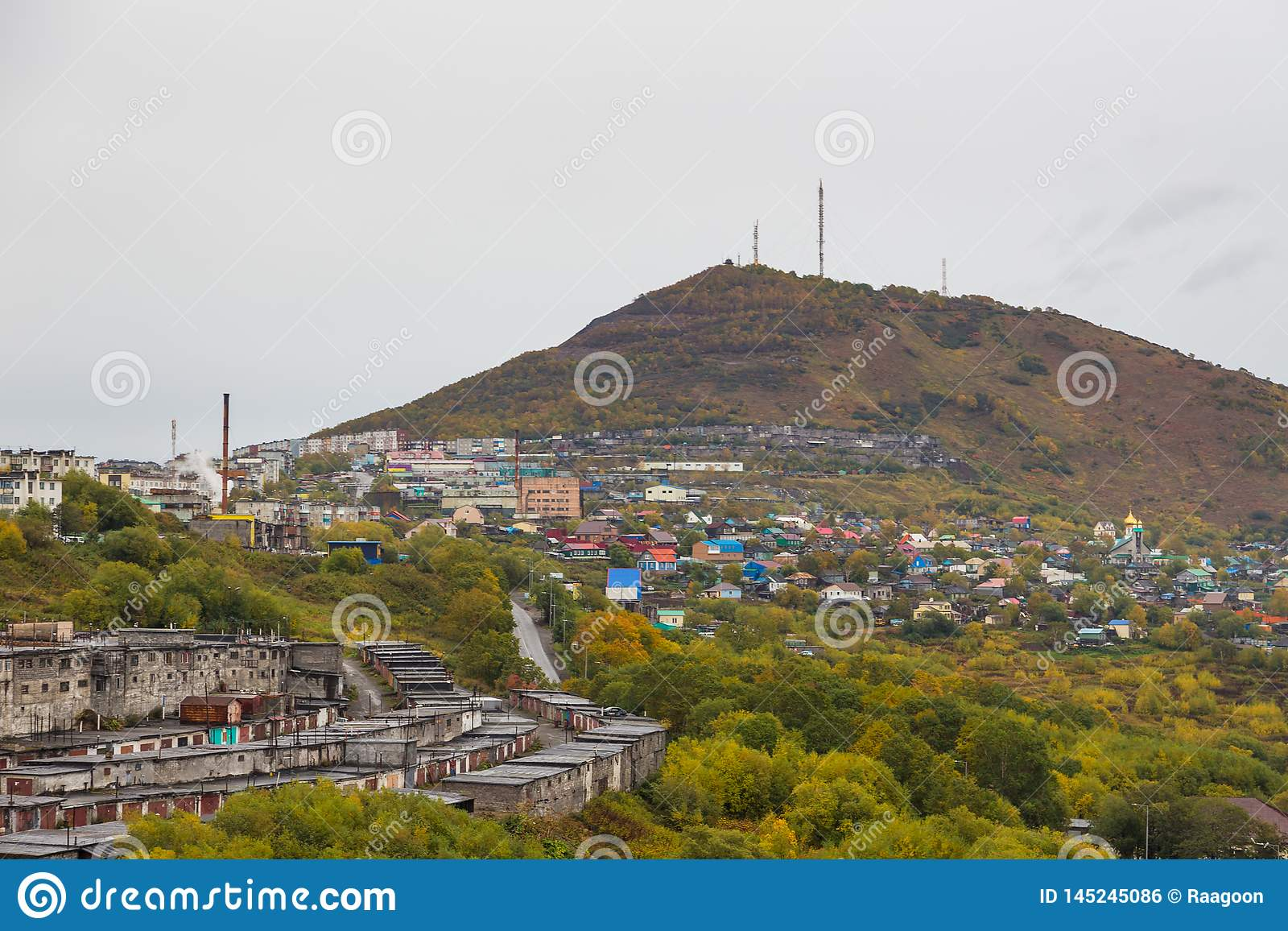 View Of The Mishennaya Mountain, Petropavlovsk-Kamchatsky, Russia