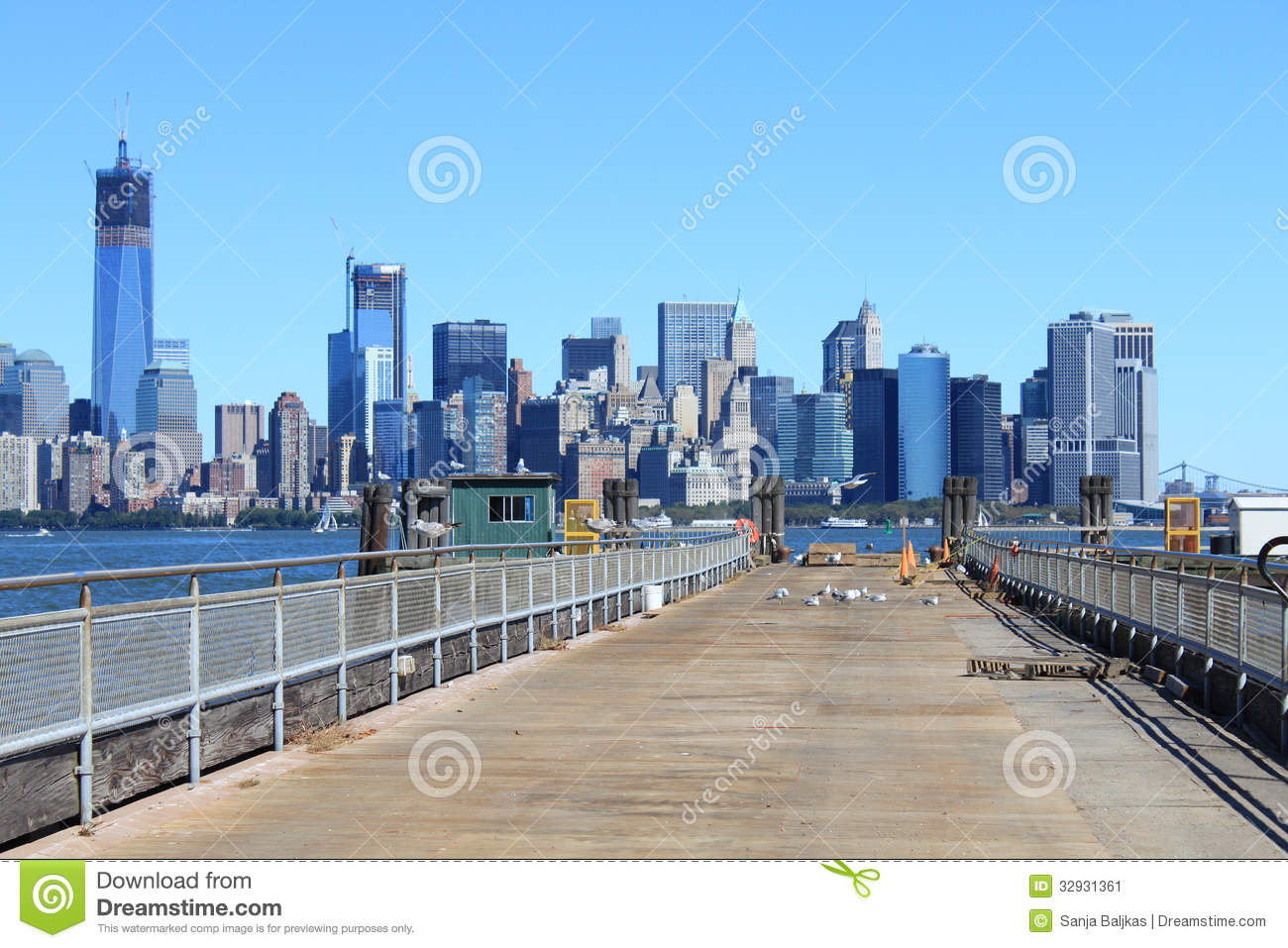 View From Mole At New Jersey Stock Image Image